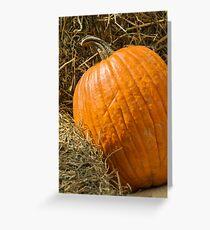 pumpkin in autumn Greeting Card