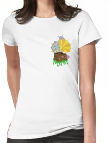 'Funky Music' Retro Gramophone Graphic Illustration Womens Fitted T-Shirt