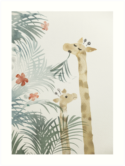 Two Giraffes by Arell