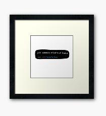 just wanna b ur luv n ur homie doodle tweet Framed Print