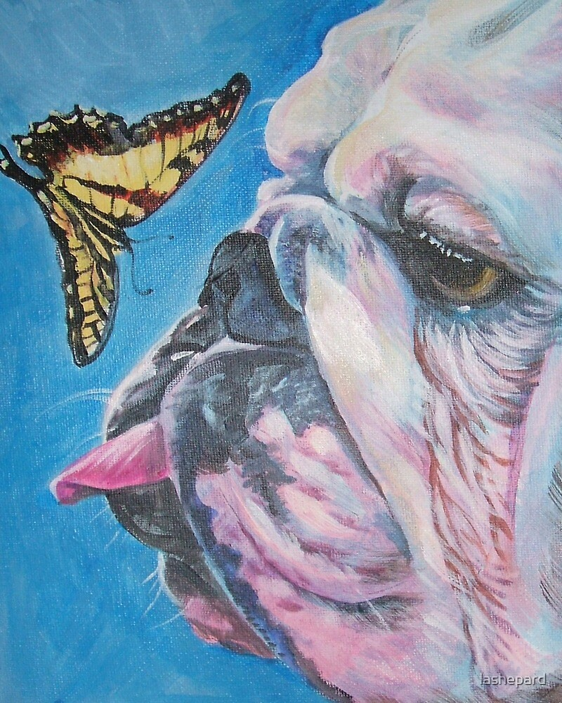 English Bulldog Fine Art Painting by lashepard