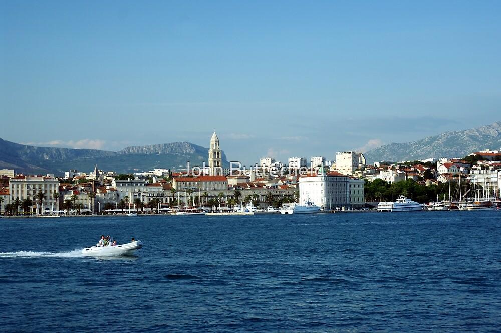 Split Croatia from the sea by John Butterfield
