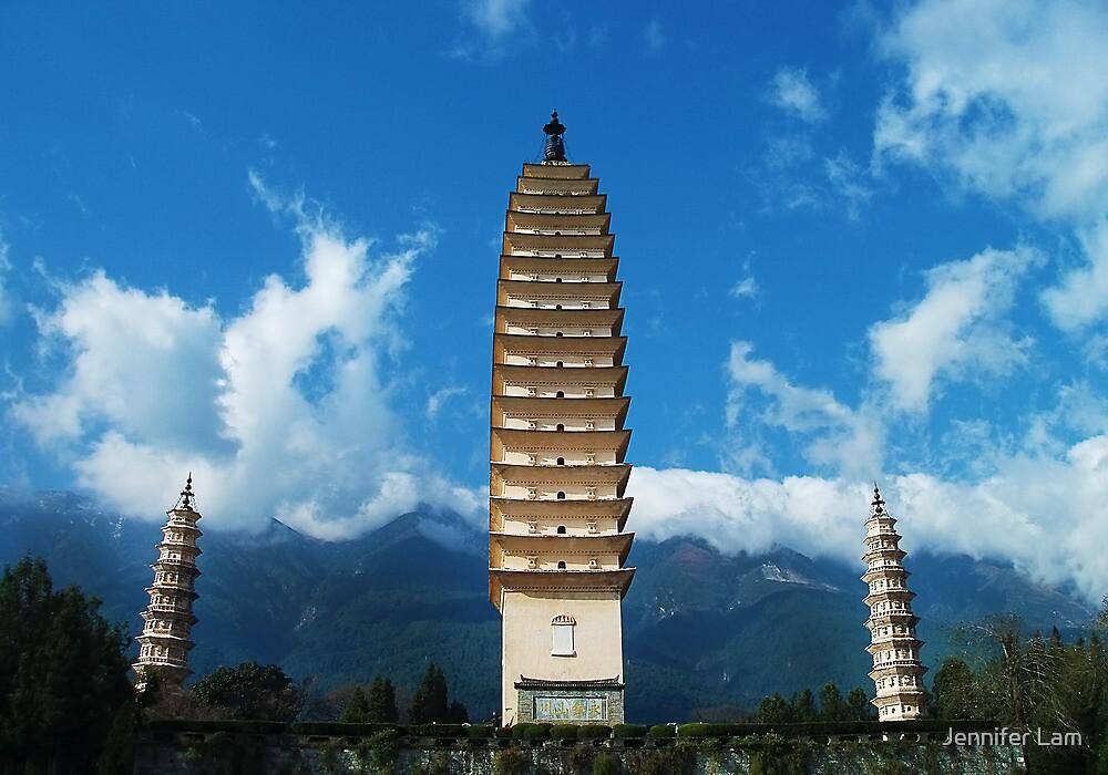 Three Pagodas by Jennifer Lam