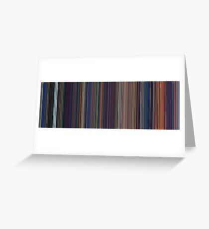 Moviebarcode: The Little Mermaid (1989) [Simplified Colors] Greeting Card