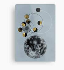 Phases of the Blue Moon Metal Print