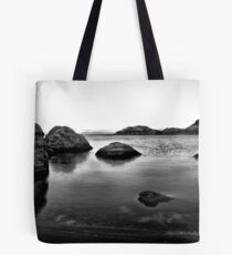 Pyramid lake at sunrise Tote Bag