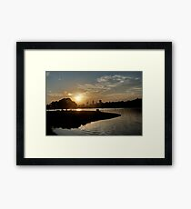 July Sunset Framed Print