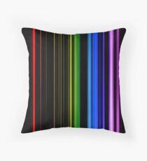 Vertical Rainbow Bars Throw Pillow