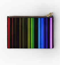 Vertical Rainbow Bars Zipper Pouch