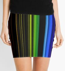 Vertical Rainbow Bars Mini Skirt