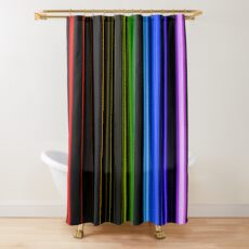 Vertical Rainbow Bars Shower Curtain