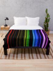 Vertical Rainbow Bars Throw Blanket