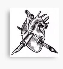 Heart of an artist Canvas Print