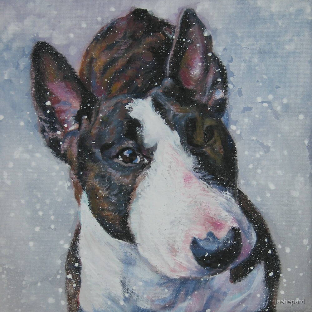 Bull Terrier Fine Art Painting by lashepard