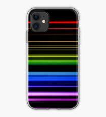 Horizontal Rainbow Bars iPhone Case