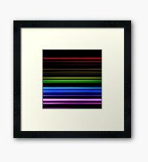 Horizontal Rainbow Bars Framed Print