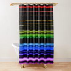 Horizontal Rainbow Bars Shower Curtain