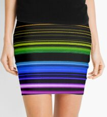 Horizontal Rainbow Bars Mini Skirt