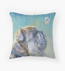 Brussels Griffon Fine Art Painting Throw Pillow