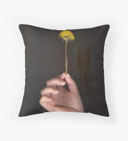 Pressed Dandelion Throw Pillow