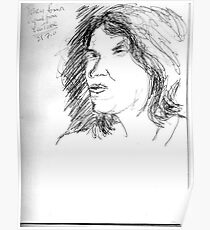 Tracy Emin on YouTube -(250711)- Biro pen/black ink Poster