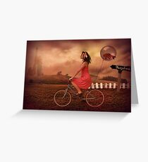 Traveling To Fairy Land Greeting Card