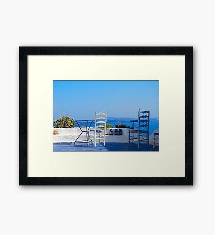 Oia Village 2, Santorini, Greece Framed Print