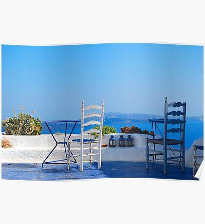 Oia Village 2, Santorini, Greece Poster