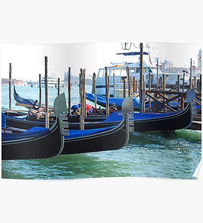 Gondolas, Venice Poster
