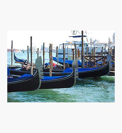 Gondolas, Venice Photographic Print