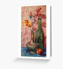 Genie Lampe Stillleben Malerei Grußkarte
