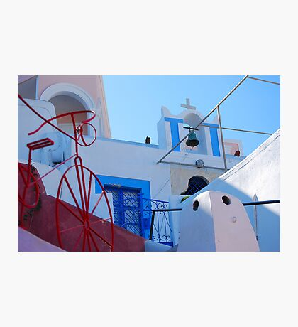 Oia Village Again, Santorini, Greece Photographic Print