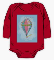 girl in an vintage hot air balloon One Piece - Long Sleeve