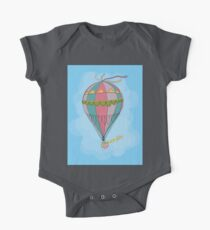 girl in an vintage hot air balloon One Piece - Short Sleeve