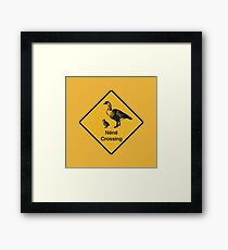 Nene Crossing, Traffic Warning Sign, Hawaii Framed Print