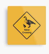 Nene Crossing, Traffic Warning Sign, Hawaii Metal Print