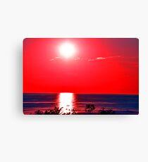 Sunset on Lake Michigan Canvas Print