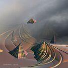 Spaceship Over Winding Sands by Julie Everhart