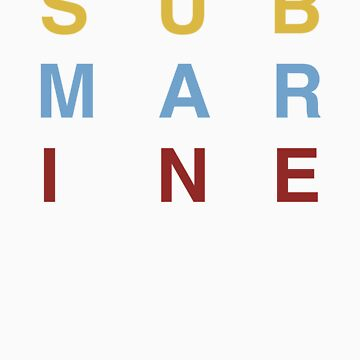 Submarine T-shirt by DLIllustration