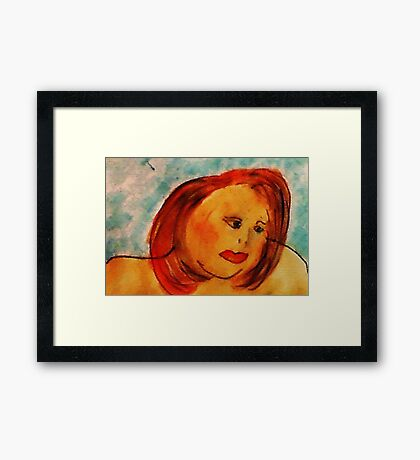 Self Portrait, watercolor Framed Print