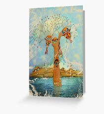 tree of love owls Greeting Card