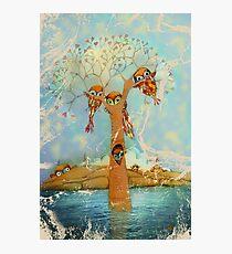 tree of love owls Photographic Print