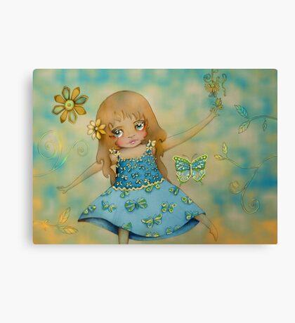 butterfly dress Canvas Print