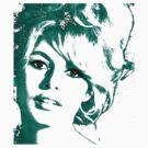 Brigitte Bardot 1960's face by adrienne75