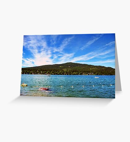 Lion Mountain (Whitefish, Montana, USA) Greeting Card
