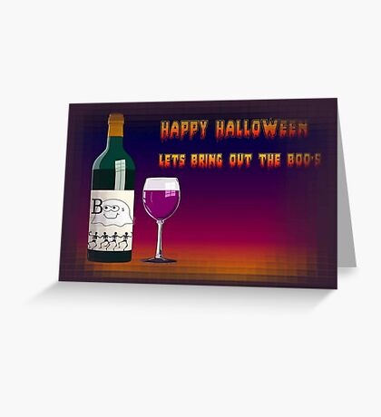 Happy Halloween Let's Bring Out the Boo's Greeting Greeting Card