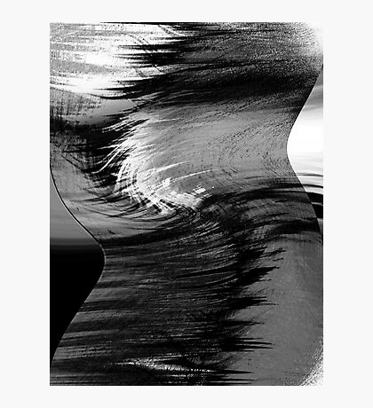 a profile.... hyperactive brain waves Photographic Print