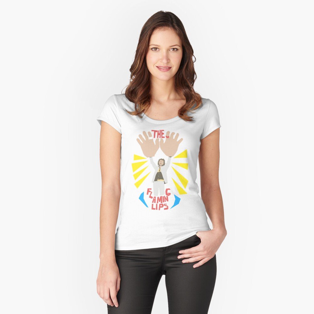 The flaming lips - big hands Women's Fitted Scoop T-Shirt Front