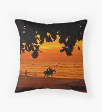 Golden Penang Sun Set Throw Pillow