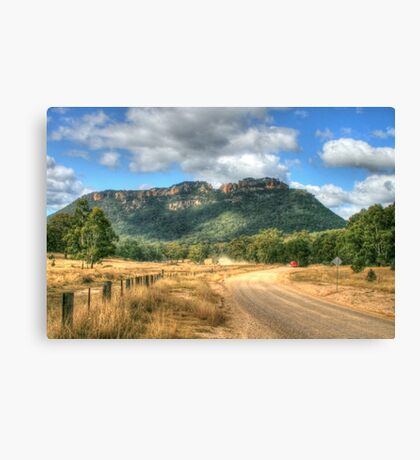 Gardens Of Stone ... With Red Truck Canvas Print